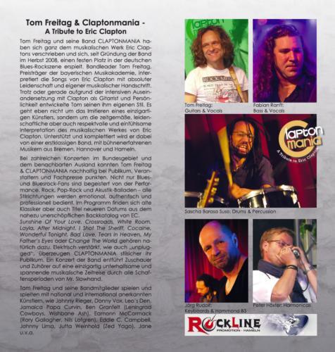 Claptonmania Infoflyer 2015