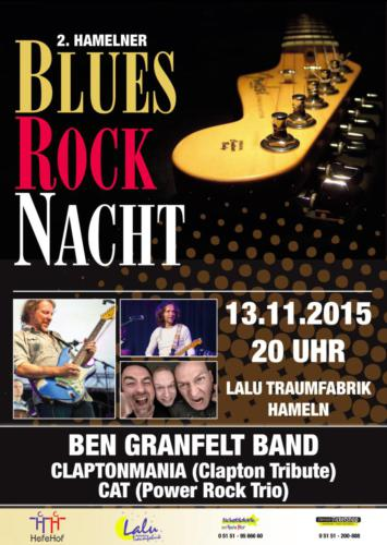 Plakat A2 Blues-Rock-Nacht Hameln 2015